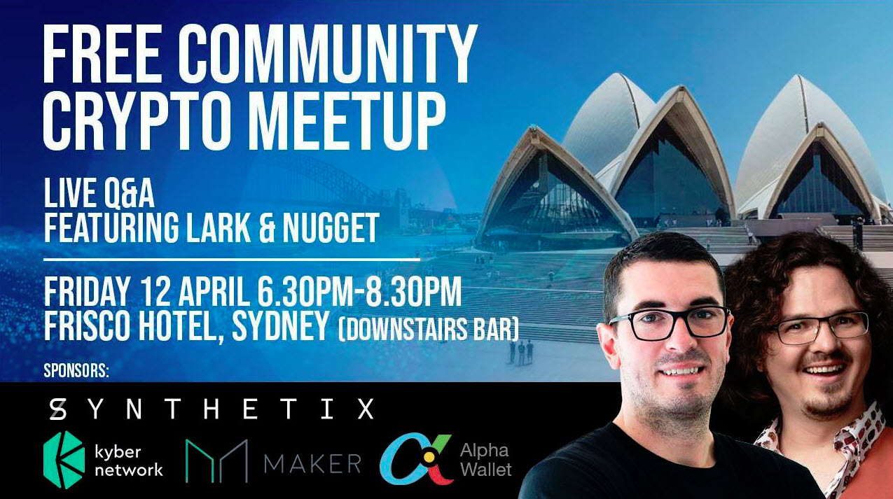 Nugget's News & The Crypto Lark Host Free Crypto Meetup