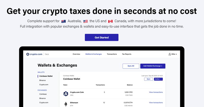 Crypto.com Tax Tool Option